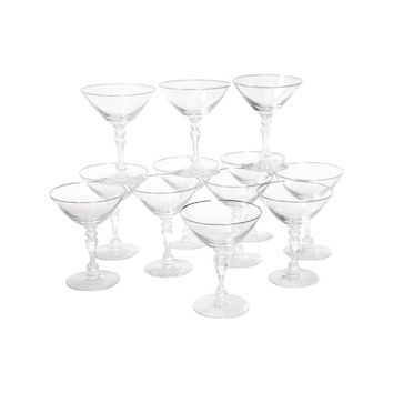 Pre-owned Stemmed Martini Cocktail Glasses - Set of 12