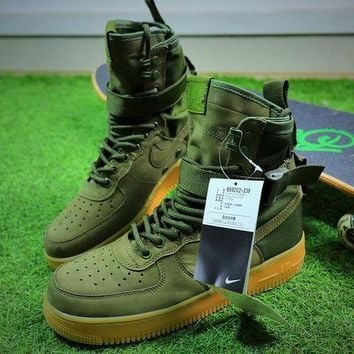 VON3TL Nike Special Forces Air Force 1 SF AF1 Boots Army Green Shoes Men Sneaker