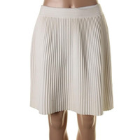 Rebecca Taylor Womens Knit Pleated A-Line Skirt