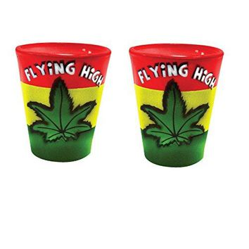 Shot Glass Marijuana Weed Leaf Flying High Novelty Shot Glass … (2)