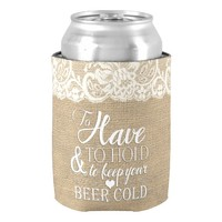 To Have and To Hold Mongram Wedding Can Cooler