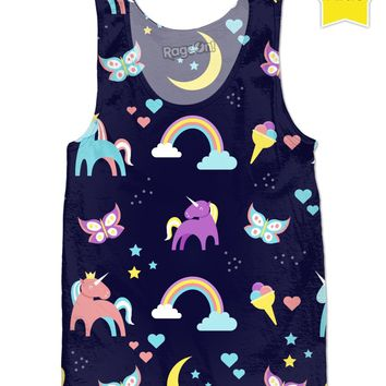 RCTT Deep Colored Unicorns Children's Tank Top