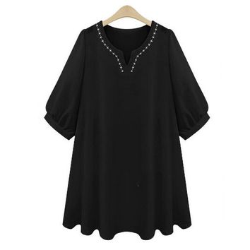 Female Blouse Cotton Linen Shirt Women Tops Blusas Summer Vintage Embroidery Loose White Short Sleeves Casual Plus Size Blouses