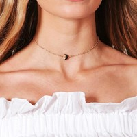 Lisa Moon Chain Choker | Boohoo