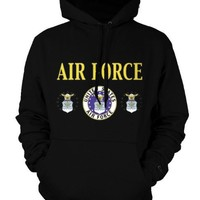 United States Air Force Mens Sweatshirt, Seal Of The Department Of The Air Force Pullover Hoodie
