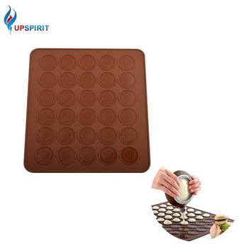 Upspirit Food Grade Macaron Silicone Cake Mold 30 Holes Baking Mat Bakery Tools Soap Chocolate Mould Fondant Kitchen Utensils