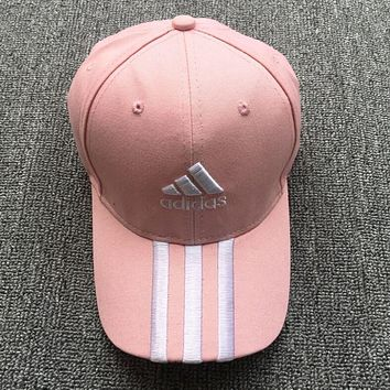 Adidas Popular Women Men Logo Embroidery Hip-Hop Baseball Cap Hat Sport Sunhat Cap Pink