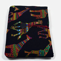 Hand Crafted Tablet Case from Giraffe Fabric/Case for: iPadMini,Kindle Fire HD7,Samsung Galaxy 7, Google Nexus,  Nook HD 7