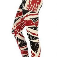 Plus Size British Flag Print leggings Size L/XL