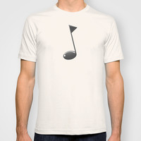 Musical note T-shirt by Tony Vazquez