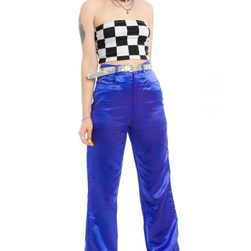 Vintage 80's Purple Satin Dream Pants - XS/S