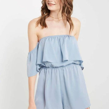 Alice Blue Off the Shoulder Romper