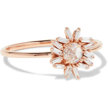 Suzanne Kalan - 18-karat rose gold diamond ring