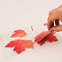 Maple Leaf Post It Notes