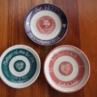 Wedding favours, ring bowl trinkets wedding gifts for bridal party