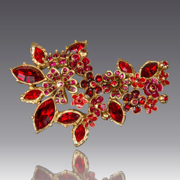Floral Cluster Pin - Jay Strongwater