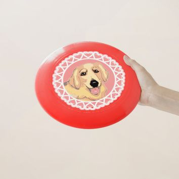 Golden Retriever Love Wham-O Frisbee