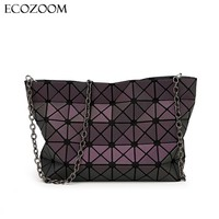 Women Luminous Sequins Mirror BaoBao Diamond Lattice Bao Bao Bag Lady Fashion Geometry Shoulder Bags Girls Tote Clutches Bolso
