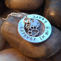 Hand stamped personalized pet memorial necklace for dog/cat lovers