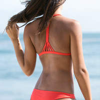The Girl and The Water - CITRINE SWIM CUMBERLAND TOP CORAL
