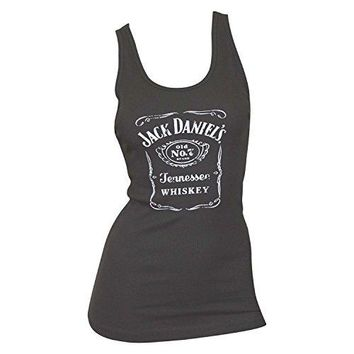 a9ec0d93bca6 Jack Daniels Women's Grey Whiskey Label Tank Top