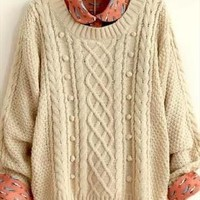 College, sweet wind twist han edition sweater from jennybrant