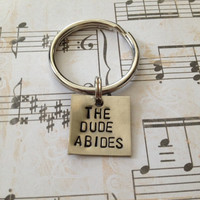 The Dude Abides - Big Lebowski Keychain