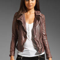 Muubaa Patara Biker Jacket in Blush from REVOLVEclothing.com