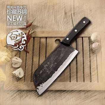 YAMY&CK hand-forged clip steel slicing meat knife cooking tools small kitchen knives + meat cutting tool+ Kitchen Accessories