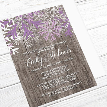 Winter Baby Shower Invitations Girl