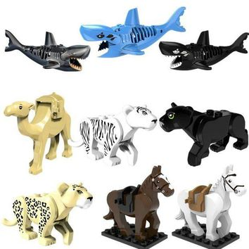 CREYLD1 Mini Animal Blocks Accessory Compatible With Legoingly Bricks Figures Model Educational Handmade Toys For Children Brinquedos