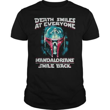 Death smiles at everyone Mandalorians smile back shirt Premium Fitted Guys Tee