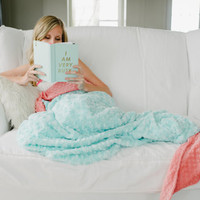 Adult Mermaid Tail Blanket- Teen Mermaid Blanket - Child Mermai Tail- Mermaid Bedding- Adult Mermaid- Adult bedding- Ships out in 2-5 Days
