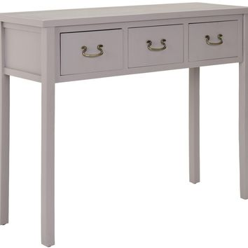 Cindy Console With Storage Drawers Quartz Grey