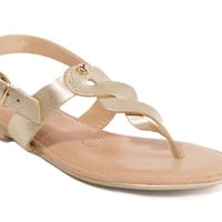 Yayas Rome - Gold Leather Flat Sandals