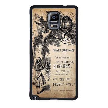 alice in wonderland bonkers samsung galaxy note 4 note 3 2 cases