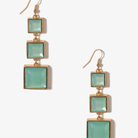 Graduated Square Drop Earrings