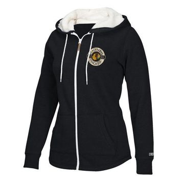 Chicago Blackhawks CCM Women's Plush Full-Zip Hoodie