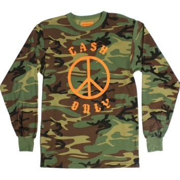 Cash Only Camo Long Sleeve Tee