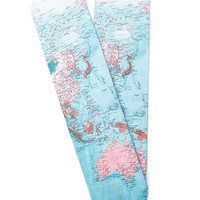 Map Print Socks