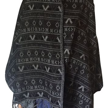 Womens or Mens Soft and Warm Aztec Style Shawl