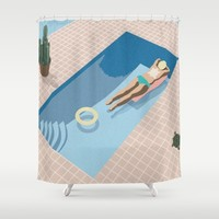 2 COOL 4 POOL Shower Curtain by J Arell