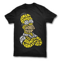 Homer Simpson Typography T-Shirt