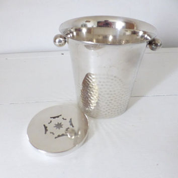 Vintage French, Silver Plate Ice Bucket