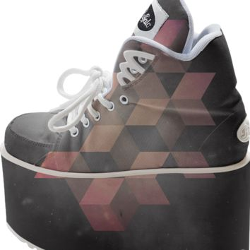 pink & gray sneaker created by duckyb | Print All Over Me