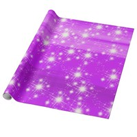 Soft shades of purple with shining stars wrapping paper