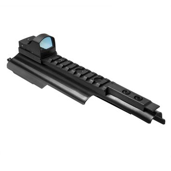 """AK Micro Dot Mount and Rail Receiver Cover with Green Micro Dot optic - 9.4"""""""