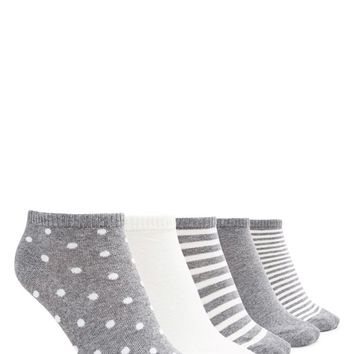 Polka Dot Ankle Socks - 5 Pack