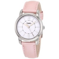 Timex Women's T2N684 Elevated Classics Dress Uptown Chic White Dial Pink Metallic Leather Strap Watch - designer shoes, handbags, jewelry, watches, and fashion accessories | endless.com