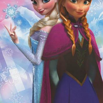 Frozen Princess Anna and Elsa Poster 22x34